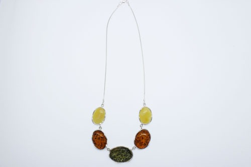 Multi Color Natural Baltic Amber Necklace