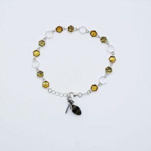 Baltic Amber Sterling Silver Bracelet. Amberman.
