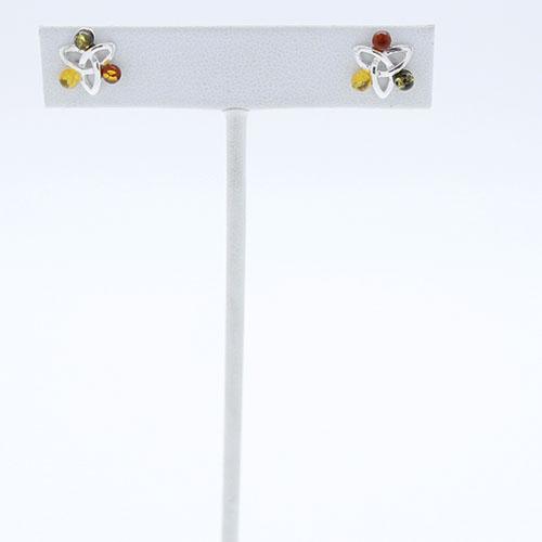 Multi Color Amber Earrings