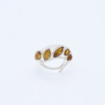 Cognac Baltic Amber Ring