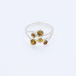 Cognac Multi Stone Ring