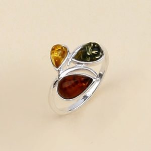 Baltic Amber Sterling Silver Ring
