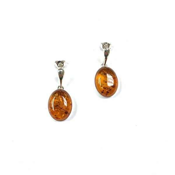 Cognac Baltic Amber Earrings