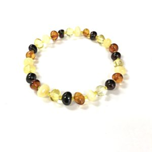 Natural Baltic Amber multi color bracelet. www.amberman.com