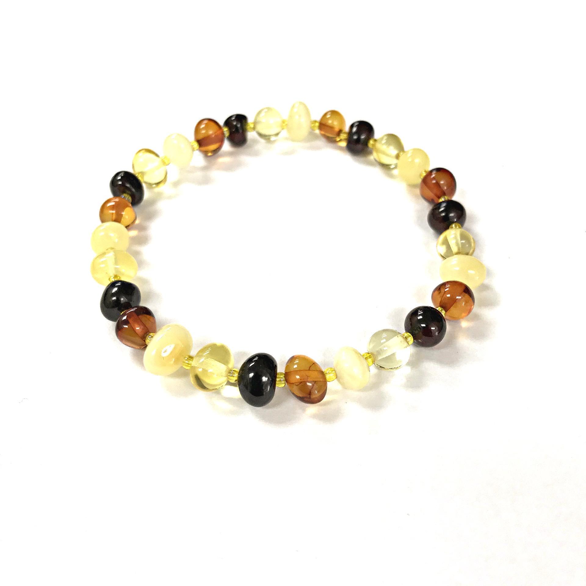 Natural Baltic Amber multi color bracelet. www.amberman.com