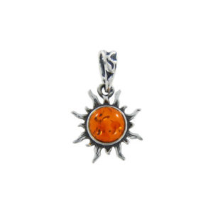 Natural Baltic Amber Sterling Silver Pendant