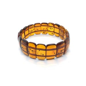 Baltic Amber stretch bracelet, www.amberman.com