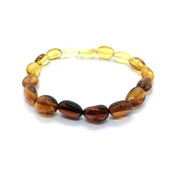 Baltic Amber stretch bracelet. www.amberman.com