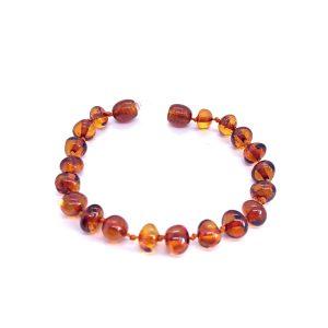 Cognac Amber Baby Bracelet