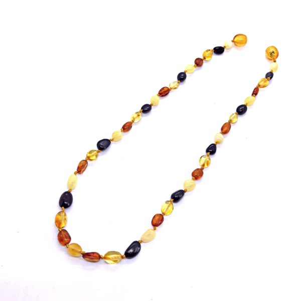 Genuine Baltic Amber multi color Necklace for Kids.