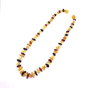 Natural Baltic Amber multi color Necklace for Kids