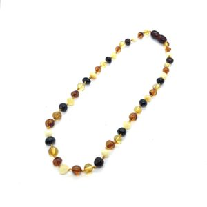 Natural Baltic Amber Necklace for Kids.