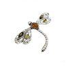 Multicolor Amber Dragonfly Brooch/Pin