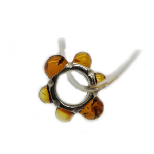 Amber Charm Bead/European Bead for Bracelet