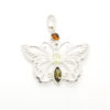Multi color Amber Butterfly Pendant 925