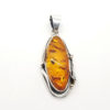 Antique Design Amber /Oxidized .925 Silver Pendant