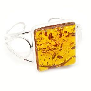Cognac Amber Open Cuff Bracelet