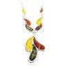 Multicolor Amber /.925 Silver Necklace