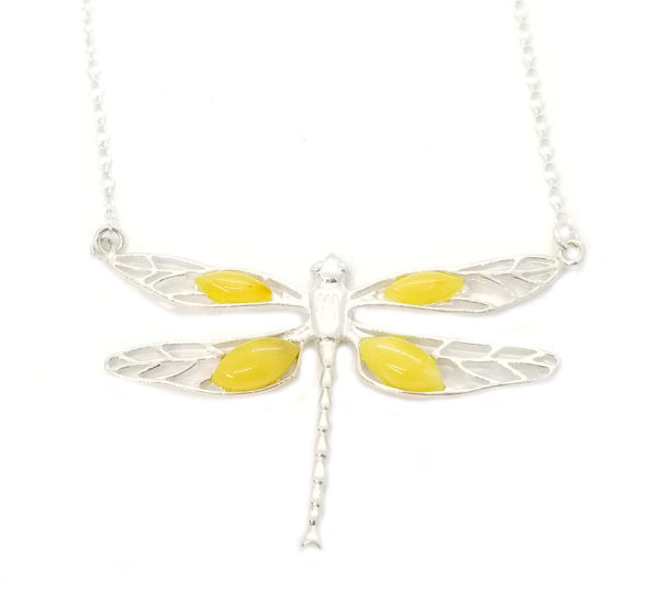 Butterscotch Dragonfly Amber /925 Necklace