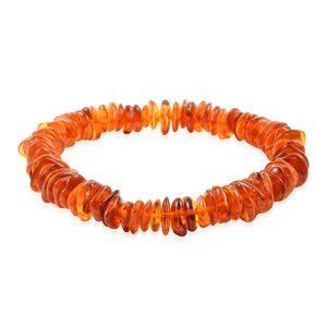 Delicate Cognac Amber Chips Bracelet