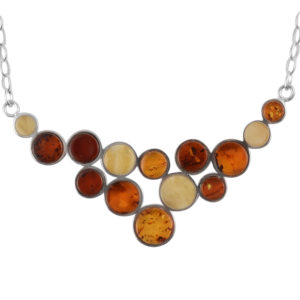 Multi color Mosaic Amber Necklace