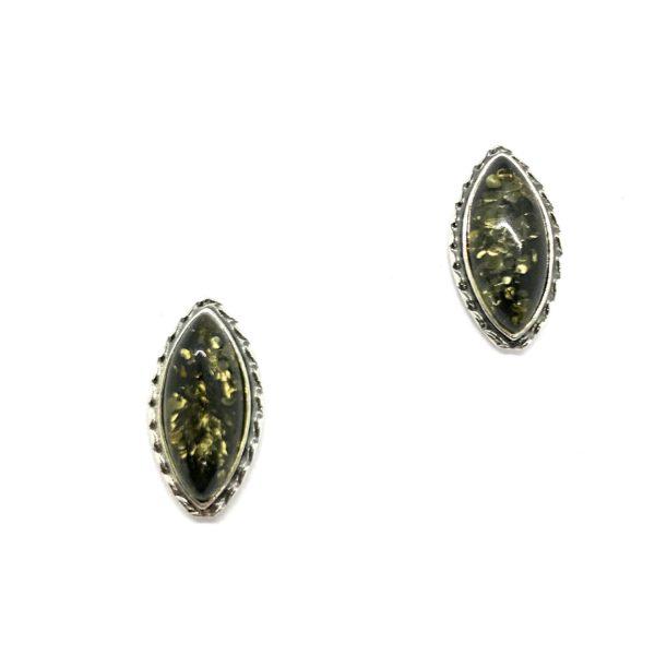 Baltic Amber Stud Earrings