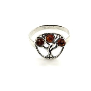 Baltic Amber /925 Silver Ring