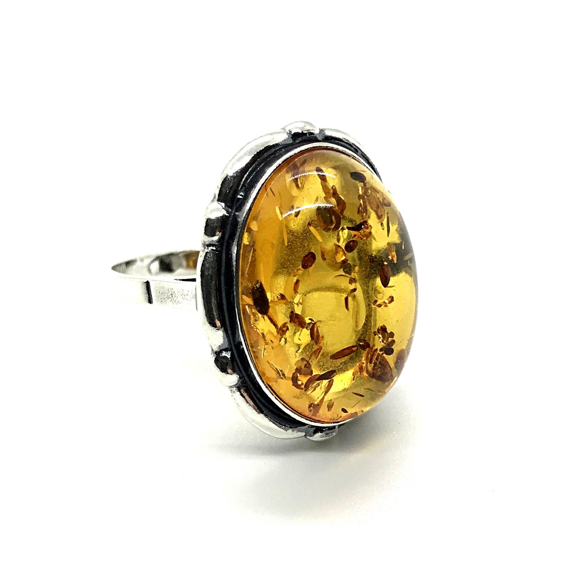 Natural Baltic Amber Ring
