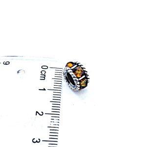 Cognac Amber Charm Bead/European Bead for Bracelet