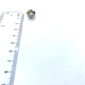 Multi color Amber /925 Silver Charm Bead/European Bead for Bracelet
