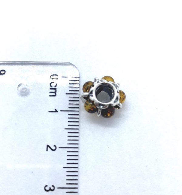 Amber /925 Silver Charm Bead/European Bead for Bracelet