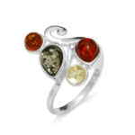 Baltic Amber Multicolor Ring