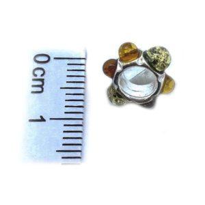 Amber /925 Silver European Charm Bead for Bracelet
