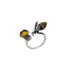 Bee Adjustable Amber Ring