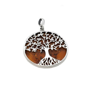 Tree of Life Amber Pendant
