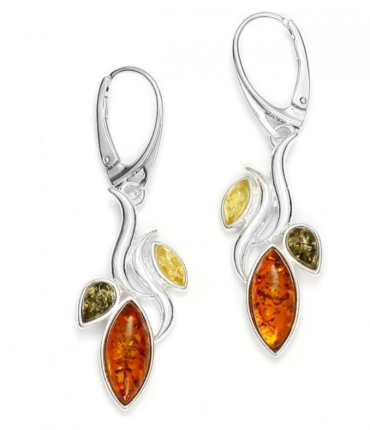 Marquise Multicolor Amber Earrings