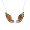 Amber Intaglio/Cameo Wings Necklace