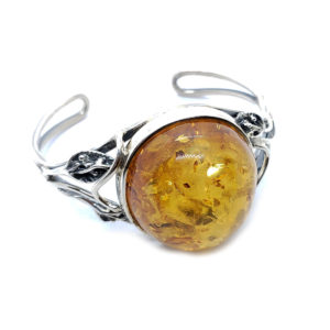 Cognac Amber Antique Design with Oxidized Leaf Work