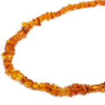 Cognac Amber Chips Necklace