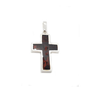 Black Cherry Inlaid Mosaic Modern Cross