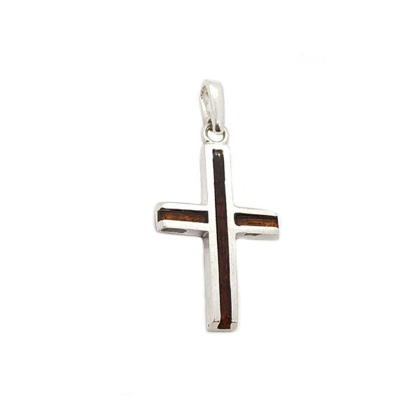 Black Cherry Inlaid Mosaic Modern Small Cross