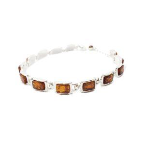 Cognac Amber /.925 Silver Bracelet