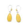 Butterscotch Amber Tear Drop Dangle Hook Earrings