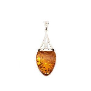 Art Deco Cognac Amber Pendant
