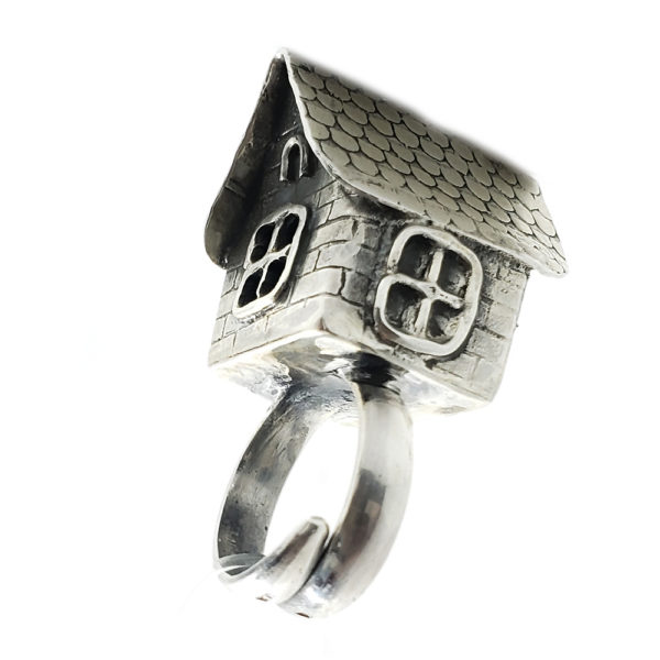 "Fairy Tale Collection Sterling Silver ""House"" Ring"