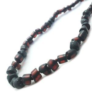 Dark Cherry Amber Necklace For Kids