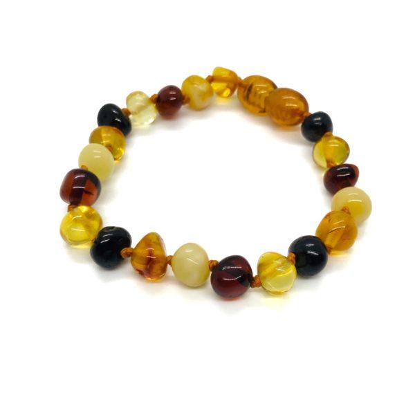 Multi Color Amber Bracelet For Kids