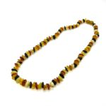 Multi Color Amber Bead Necklace