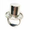 Alice In Wonderland Theme Silver Hat Ring