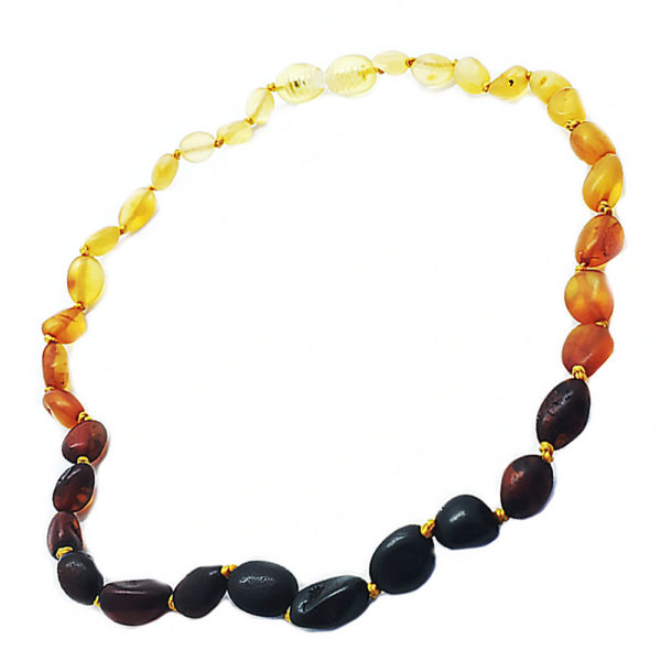 """Rainbow"" Amber Baby/Teething Necklace"